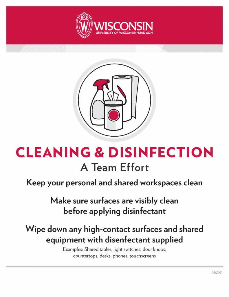 Classroom Cleaning Signs